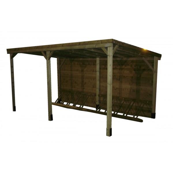 loisirs amenagements abri range velo. Black Bedroom Furniture Sets. Home Design Ideas