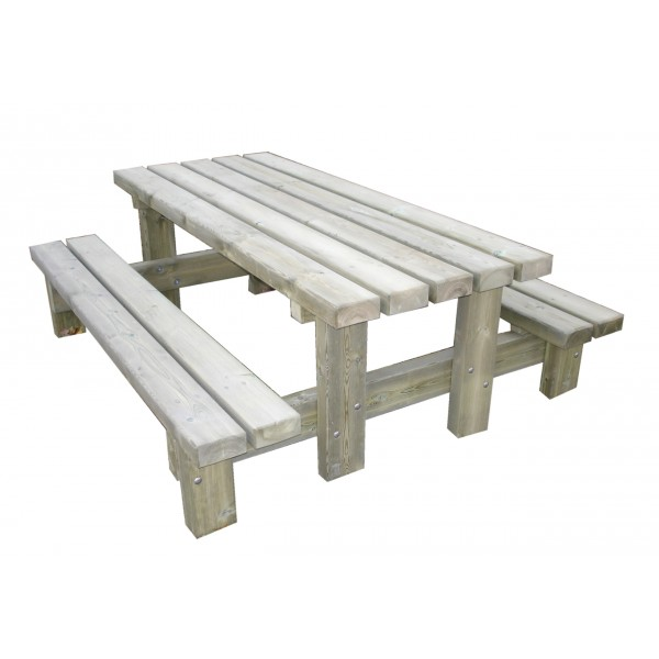 loisirs amenagements table banc rustique. Black Bedroom Furniture Sets. Home Design Ideas